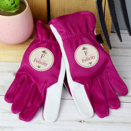 Floral Bouquet Medium Fuschia Gardening Gloves